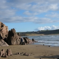 Bigbury beach looking to Bantham