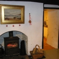 Log burner & Christmas decorations